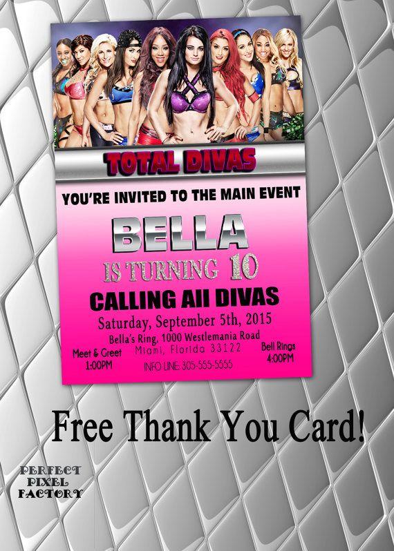 TOTAL DIVAS Invitation WWE Birthday by PerfectPixelFactory ...