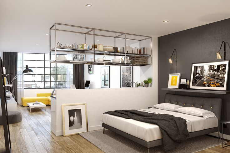 open plan studio apartment citycentre urbanliving