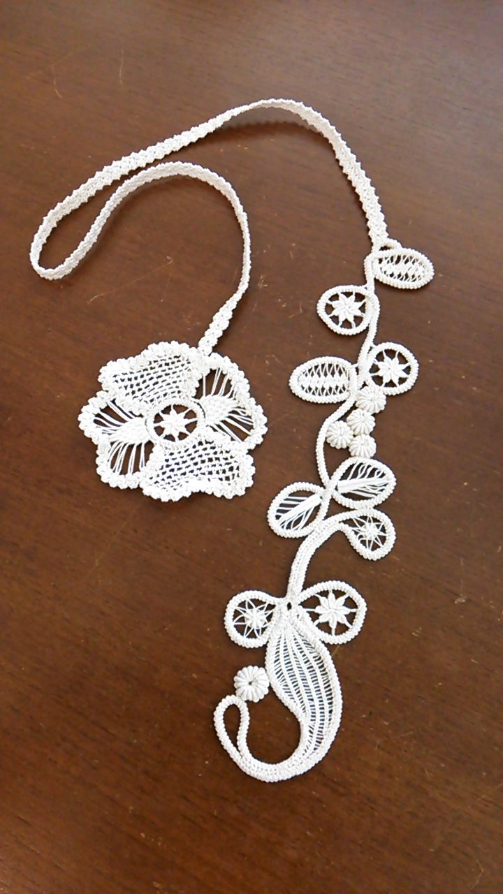 Point Lace Crochet necklace - inspiration