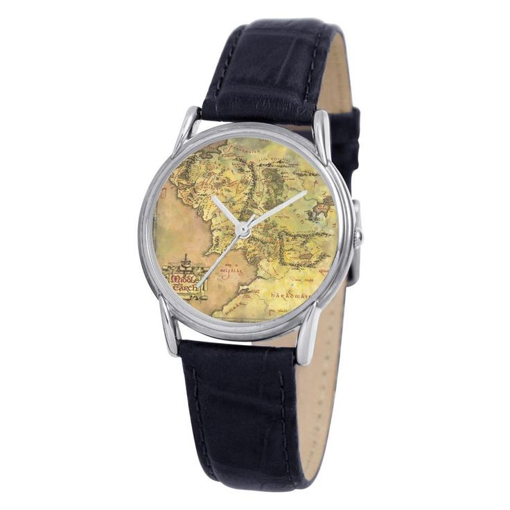 The Lord Of The Rings Middle-Earth Map Watch from Warner Bros.: The Lord of the Rings Middle-earth Map Adult… #Movies #Films #DVD Video