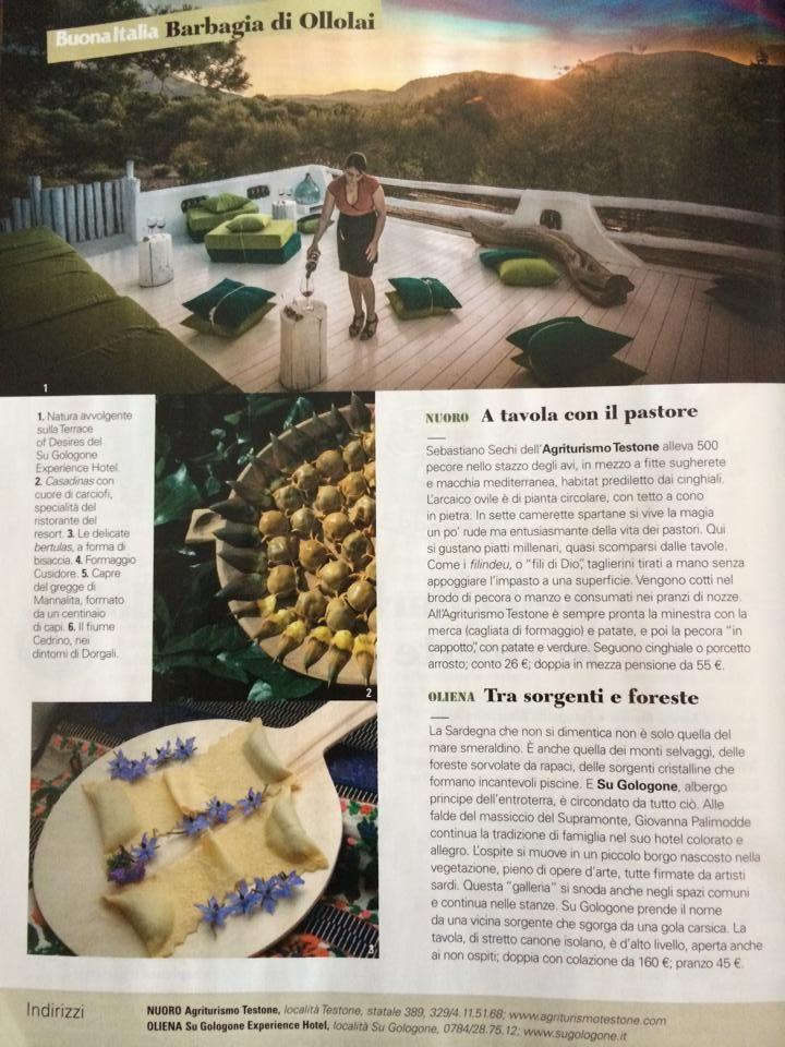 Sardegna che non si dimentica..SuGologone n° di aprile 2014 di Bell'Italia Cairo Editore