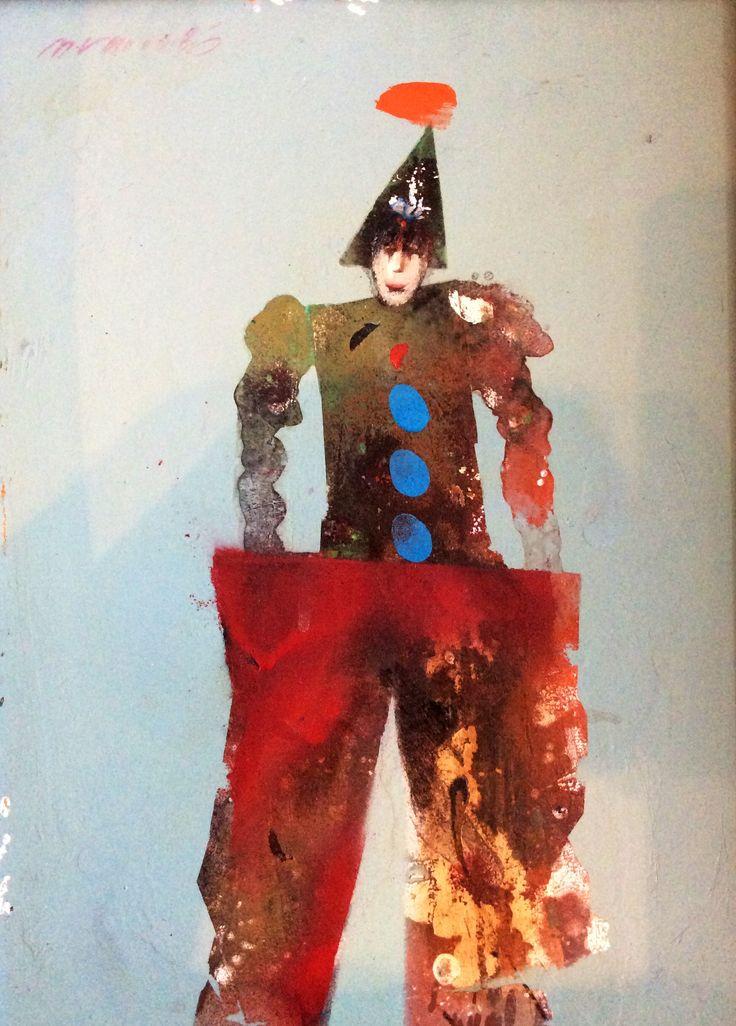Milan Vavro /clown 2.   oil paint