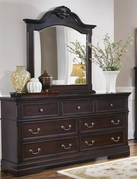 Coaster Furniture Cambridge Cappuccino Wood Dresser and Mirror