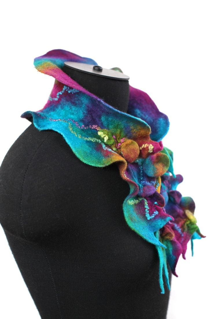 Nuno Felted Textured Scarf http://www.feltedpleasure.com/shop.html