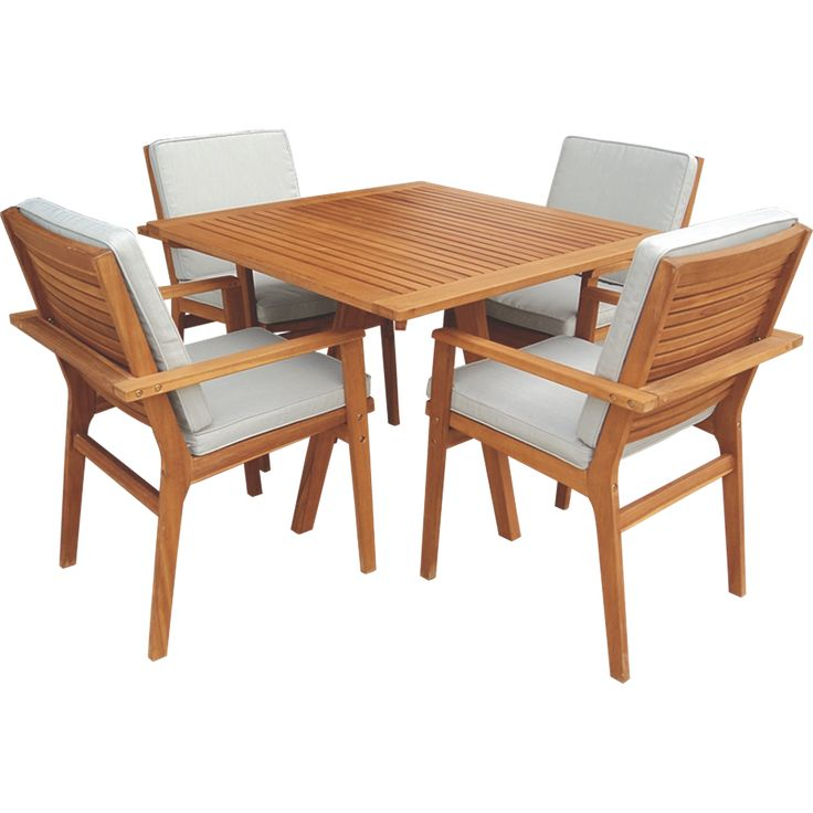 Mimosa 5pc Outdoor Timber Deck Setting IGL500V $700