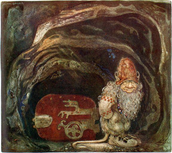 """""""När Trollmor skötte Kungens Storbyk"""" av Elsa Beskow, från """"Bland Tomtar och Troll"""" 1914."""