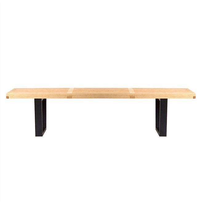 Side & Console Tables, replica platform bench - ash - large