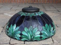 Antique Leaded Stained Glass Lamp Shade Circa 1910 No Reserve | eBay