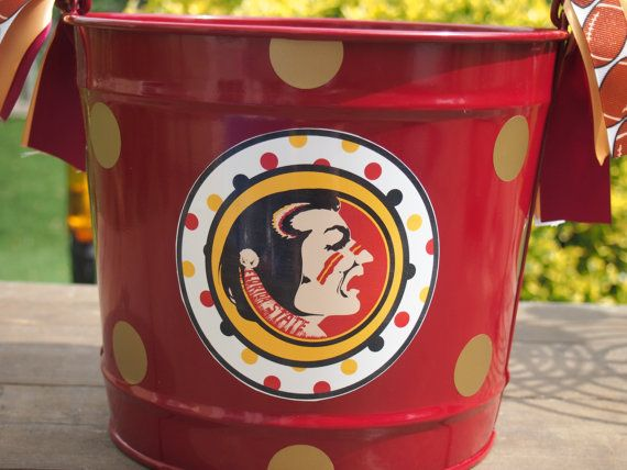 FSU Seminole Bucket by TheQuirkyCork on Etsy