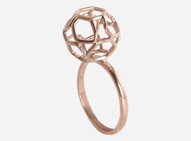 Ring, Globe, copper, Size.: 50-56