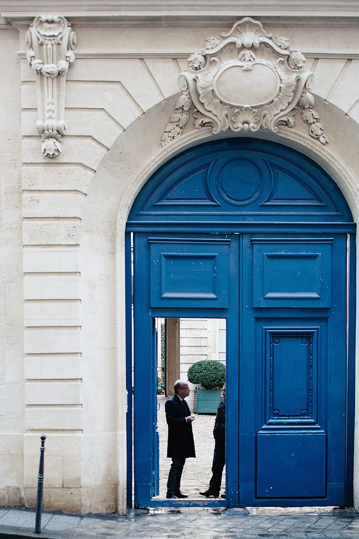 madewell et szane, july royal blue arched parisian doorway. Love the door  Color