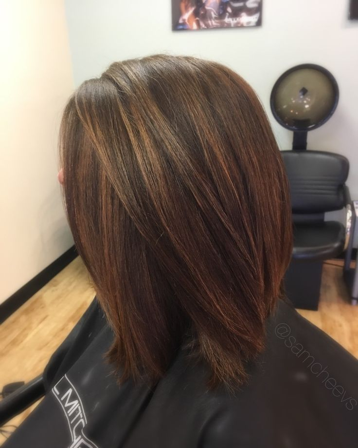 Subtle summer caramel golden warm highlights for brown and dark hair types / ethnic hair / Indian / Caucasian / Latina / Asian / Hispanic hair types