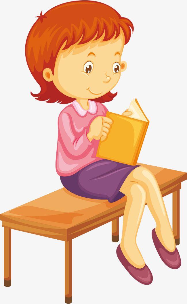 ناقلات قراءة الفتاة تعلم قراءة يقرأ الناس Png وملف Psd للتحميل مجانا Book Girl Student Reading How To Read People