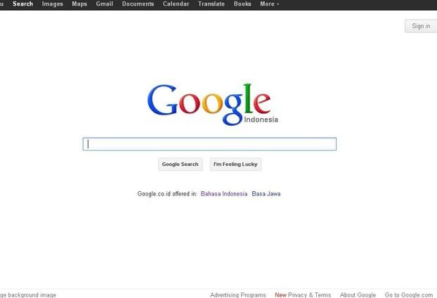Google Indonesia in English
