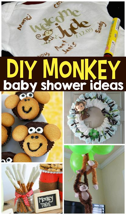 DIY Monkey Baby Shower Ideas (Decorations, favors, desserts, food, guestbooks and more!) - Crafty Morning