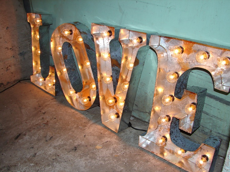marquee letter broadway style love
