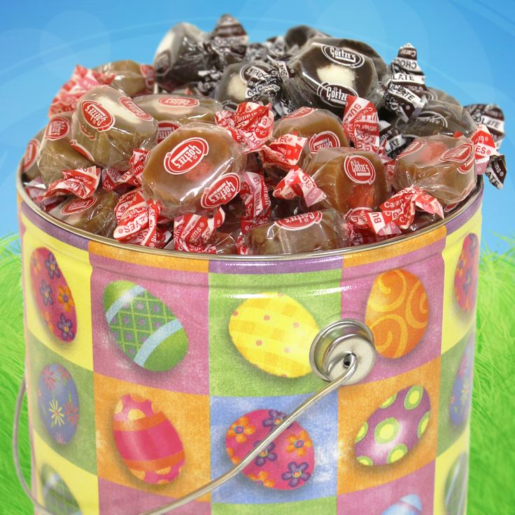 96 best easter crafts treats images on pinterest easter crafts goetzes caramel creams easter gift tin filled with nut free easter candy negle Image collections