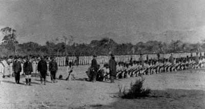 Batallón Cívico Artillería Naval, en Lurín, ad portas a las batallas decisivas de Chorrillos y Miraflores, 1881