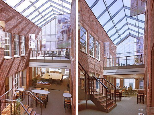 historic industrial mixed use development interior design - Google Search