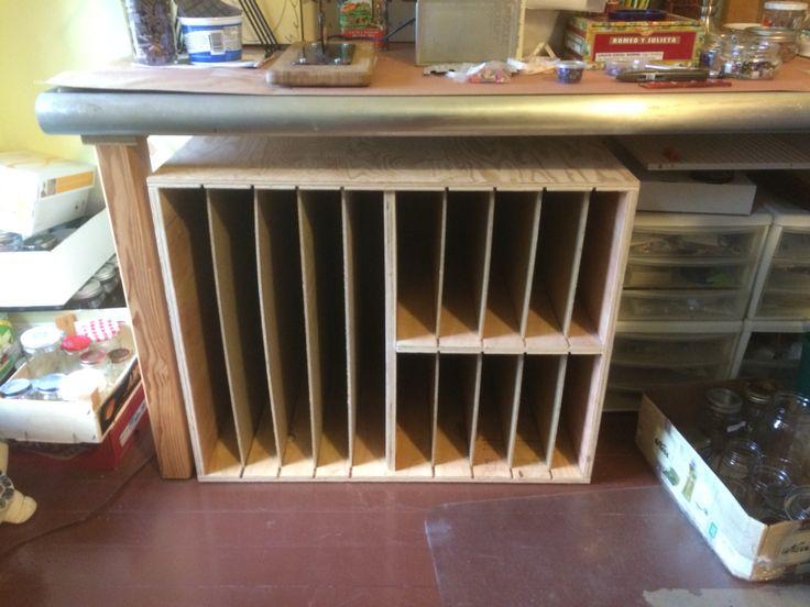 Glass sheet storage I built.