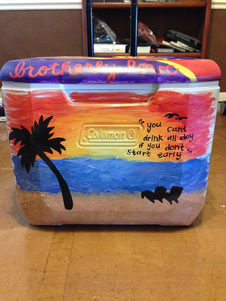 Frat cooler fraternity coolers painted coolers
