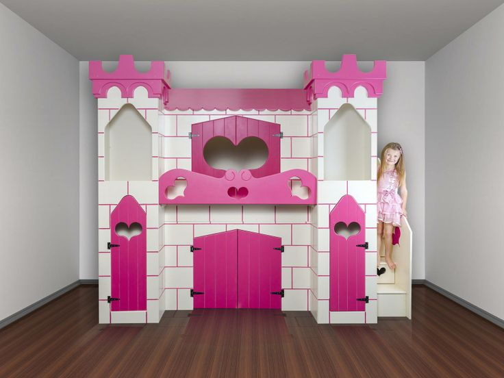 Girls princess castle bed for Castle kids room