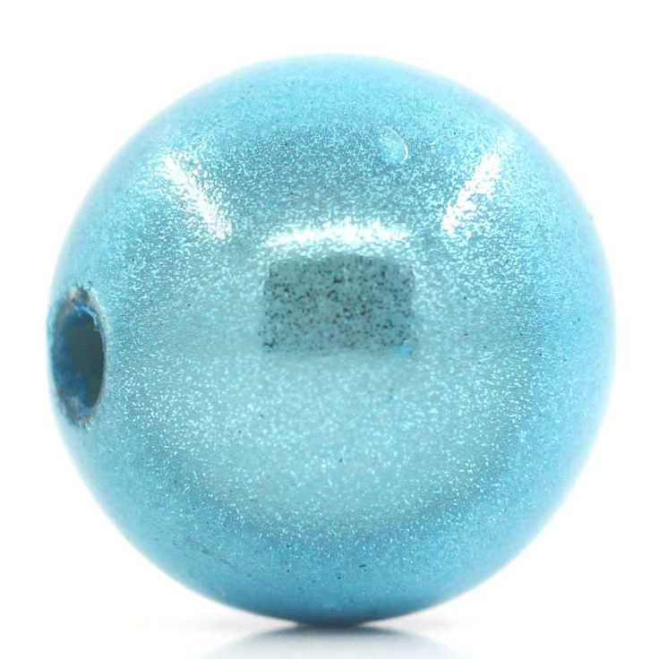 Miracle / Illusion Beads, Blue, 12mm, 50pcs