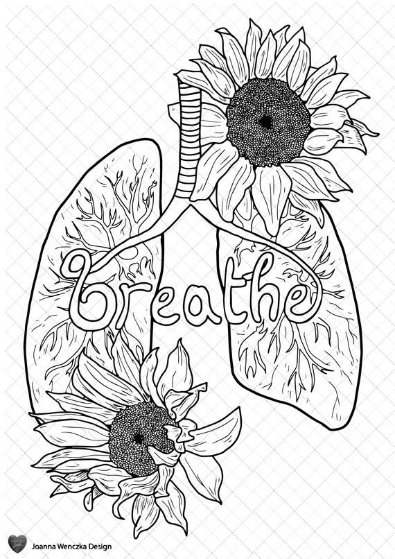 Breathe Colouring Page Printable , Coloring Page for