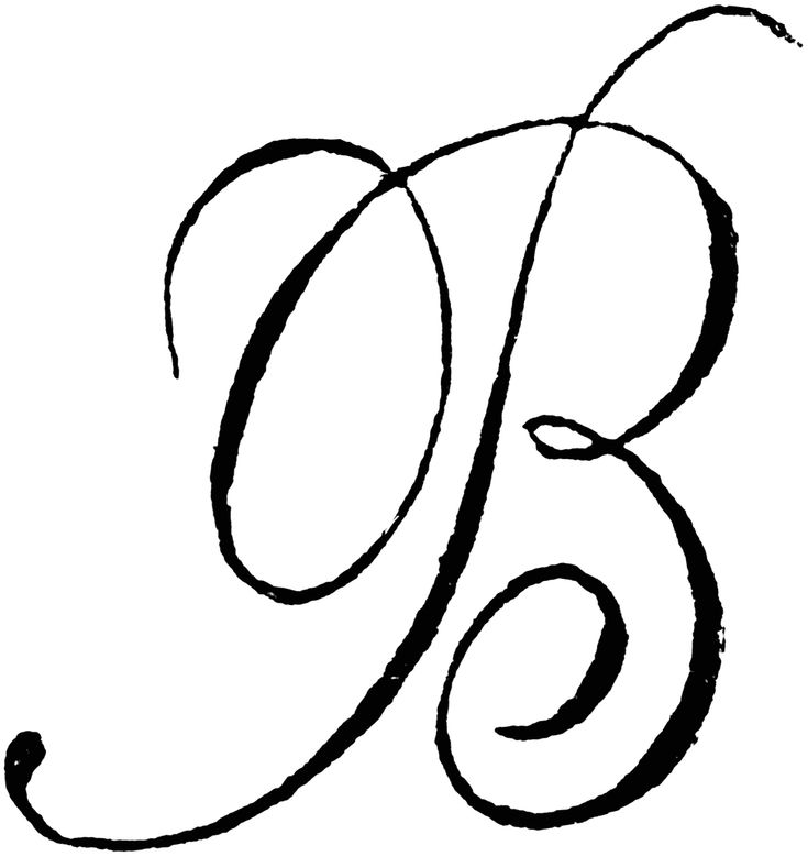 The Letter B In Cursive - maybe paint this above the fireplace, or another wall and put pictures around it