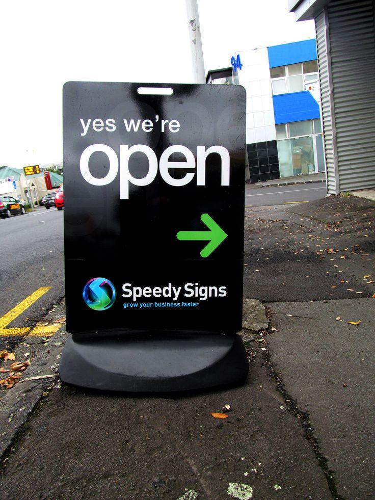 Footpath Sign by Speedy Signs Newton