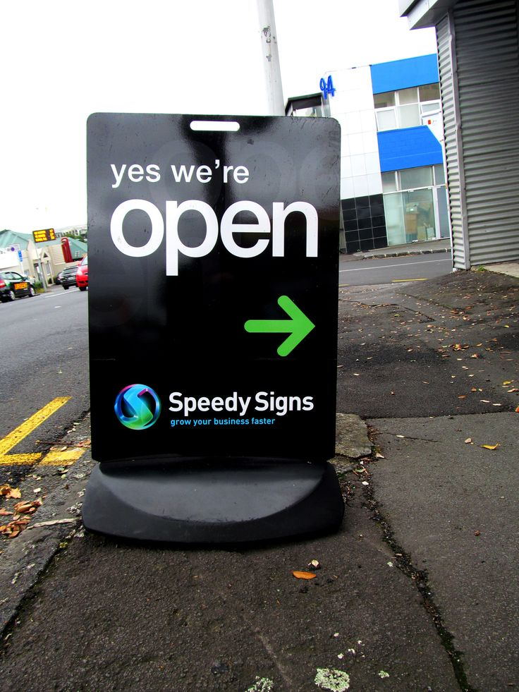 Footpath Sign by Speedy Signs Newton