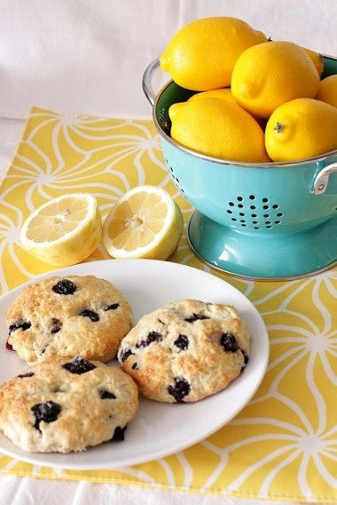Lemon-blueberry buttermilk scones