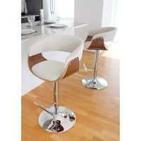 Wish | Vintage Mod Mid-Century Modern Wood Adjustable Bar Stool