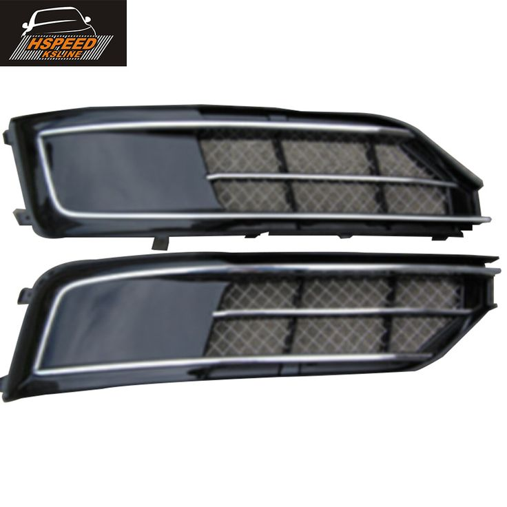 A8 Abs Front Bumper Fog Lamps Light Covers For Audi A8 2015 2016 Car Styling Audi A8