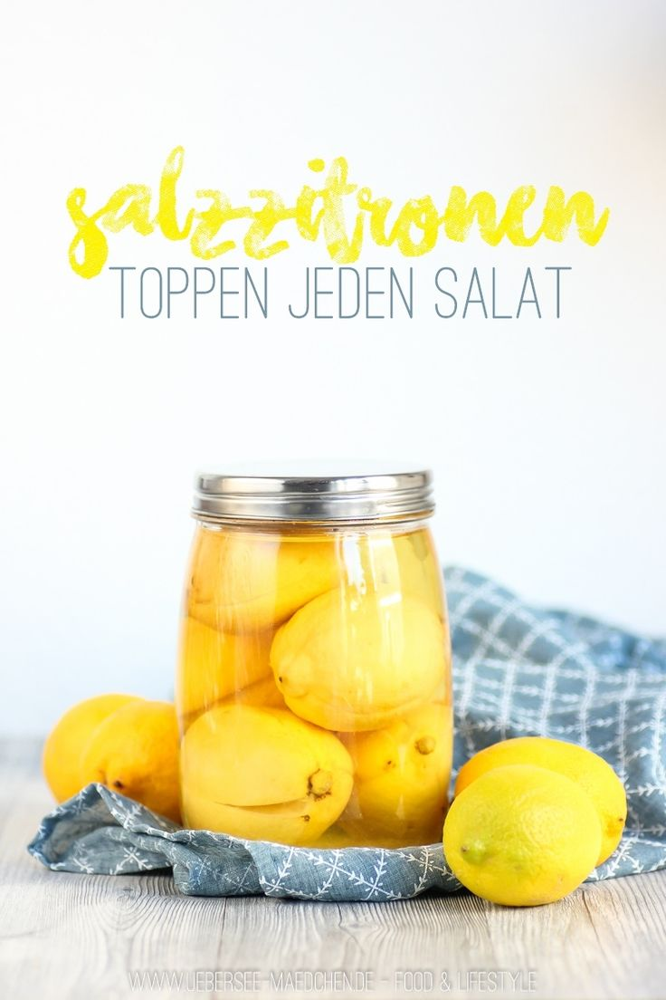 Rezept für Salzzitronen selbst gemacht ideal für Salat vom ÜberSee-Mädchen   Homemade Saltlemons like in Morocco perfect for salads as a topping