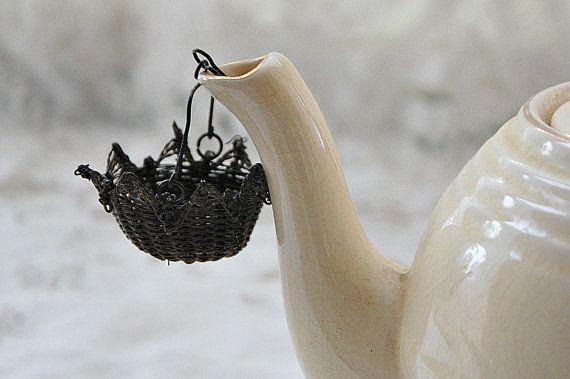 Vintage French tea strainer basket tea strainer by LaCroixRosion