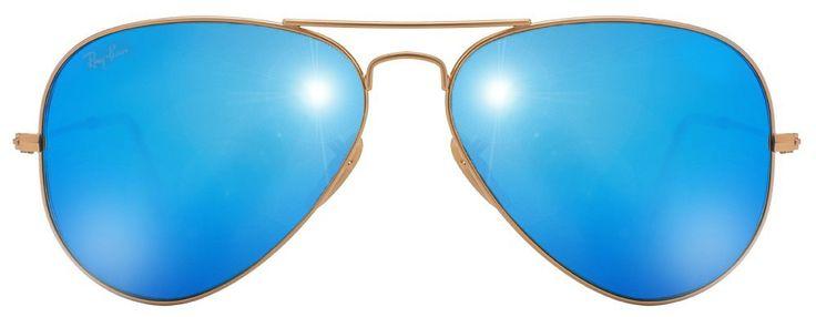 Ray-Ban RB3025 Mittelgroß (Größe 58) Golden Blue 112/17 Herren Sonnenbrille