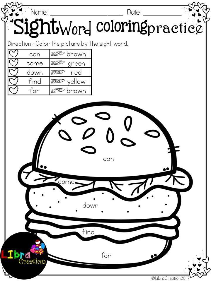 Dolch Sight Word Coloring Practice Pre-Primer  This product includes: 25 pages of coloring practice by sight word. Easy and fun for your students to learn sight word and also your students have to color by the sight words.  Preschool, Preschool Worksheets, Kindergarten, Kindergarten Worksheets, First Grade, First Grade Worksheets, Sight Word, Sight Word Coloring Practice Sight Word Activities, Sight Word Activities The Bundle, Bundle, Sight Word, Sight Word Printables