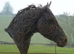 Image result for corrugated iron horse sculptures