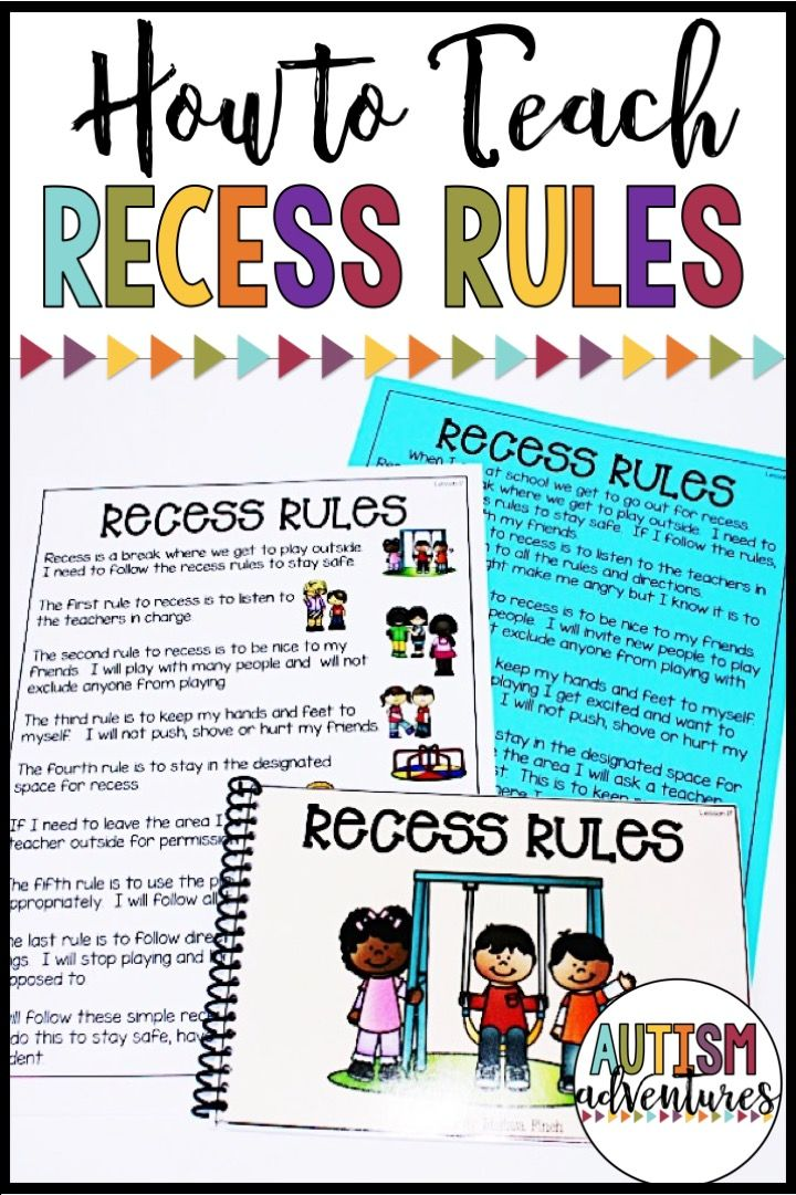Teach students the recess rules! Behavior basics curriculum for students with special needs.