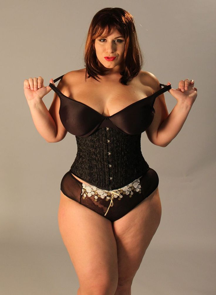 All clear, curvy women in corsets are mistaken