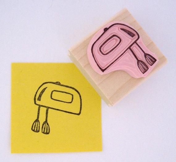 hand mixer stamp: Mixer Stamp, Craft Ideas, Carvology 101