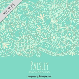Paisley motif de nature Sketches
