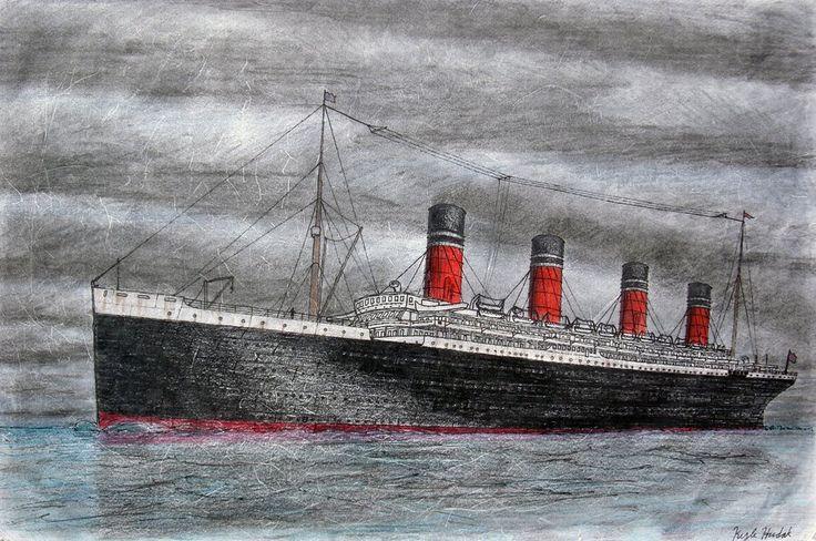 Titania por Hudizzle-Titania es una nave de ficción me ocurrió. Está basado en el Lusitania, y cuenta con un esquema de pintura Cunard Line.