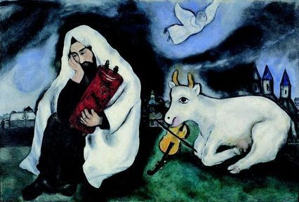 """Solitude"" painted by Marc Chagall (b. 1887, Liozna, Russian Empire (present-day Belarus) – 1985, Saint-Paul-de-Vence, France) captures the feelings of many European Jews during the inter-war..."
