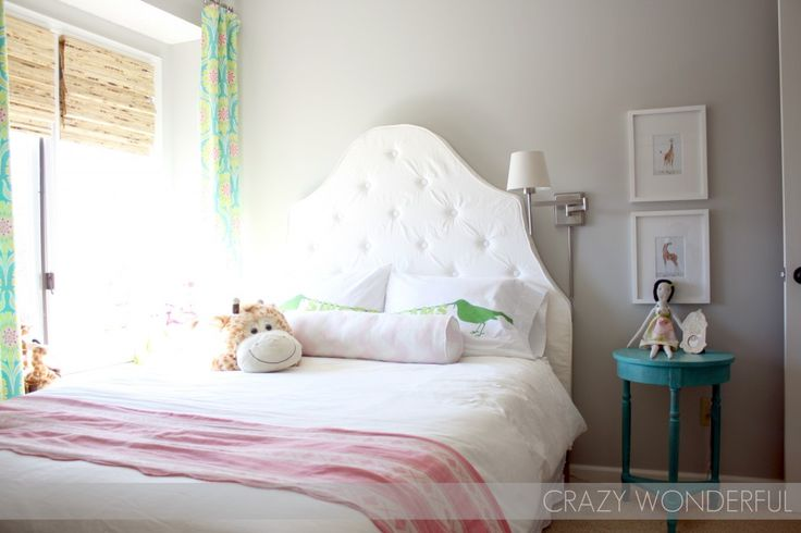 DIY tufted headboard in this #biggirlroom: Kids Room, Girls Room, Girls Bedroom, Paint Colors, Martha Stewart, Big Girl Rooms, Big Girls