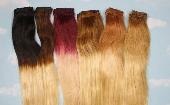 Handmade Bleached Tips Ombre Hair Extensions Human by Cloud9Jewels, $112.00