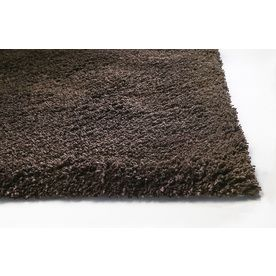 Sofia Rectangular Brown Solid Tufted Area Rug Common 5