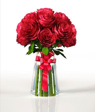 Красные розы в вазе, произведения искусства