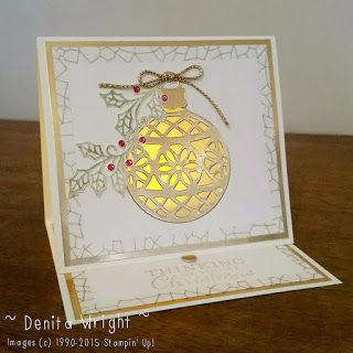 Denita Wright - Independent Stampin' Up! Demonstrator Australia. The December Creation Station Blog Hop 'Christmas' Theme. A luminere card and more details on my blog.